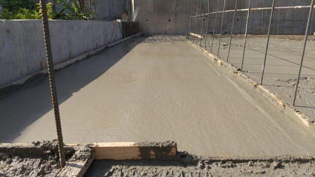 Nさま邸基礎コンクリート打設。まつけん設計の見習い一級建築士日記